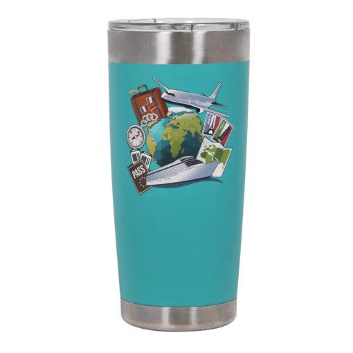 Термокружка вакуумная, Crown, 590 ml, матовое покрытие, аква
