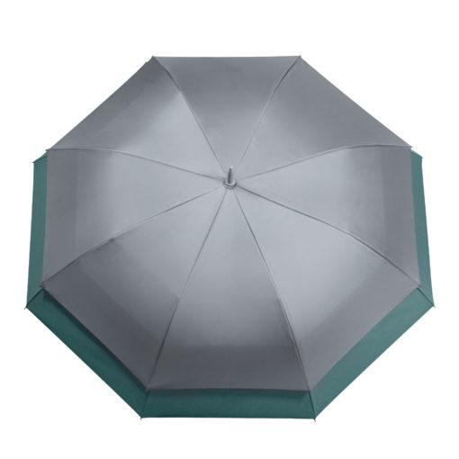 Зонт-трость Bora, серый/аква