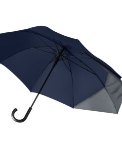 Зонт-трость Dune, синий/серый