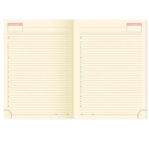 Недатированный ежедневник PORTLAND 650U (5452) 145×205 мм, без календаря, коричневый, золот.срез
